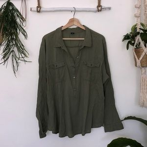 Old navy olive green tunic size XXL